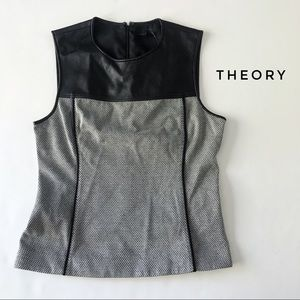 ⭐️ Theory leather top, size 4